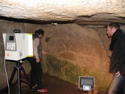 Numérisation de la tombe à couloir du Mané Lud